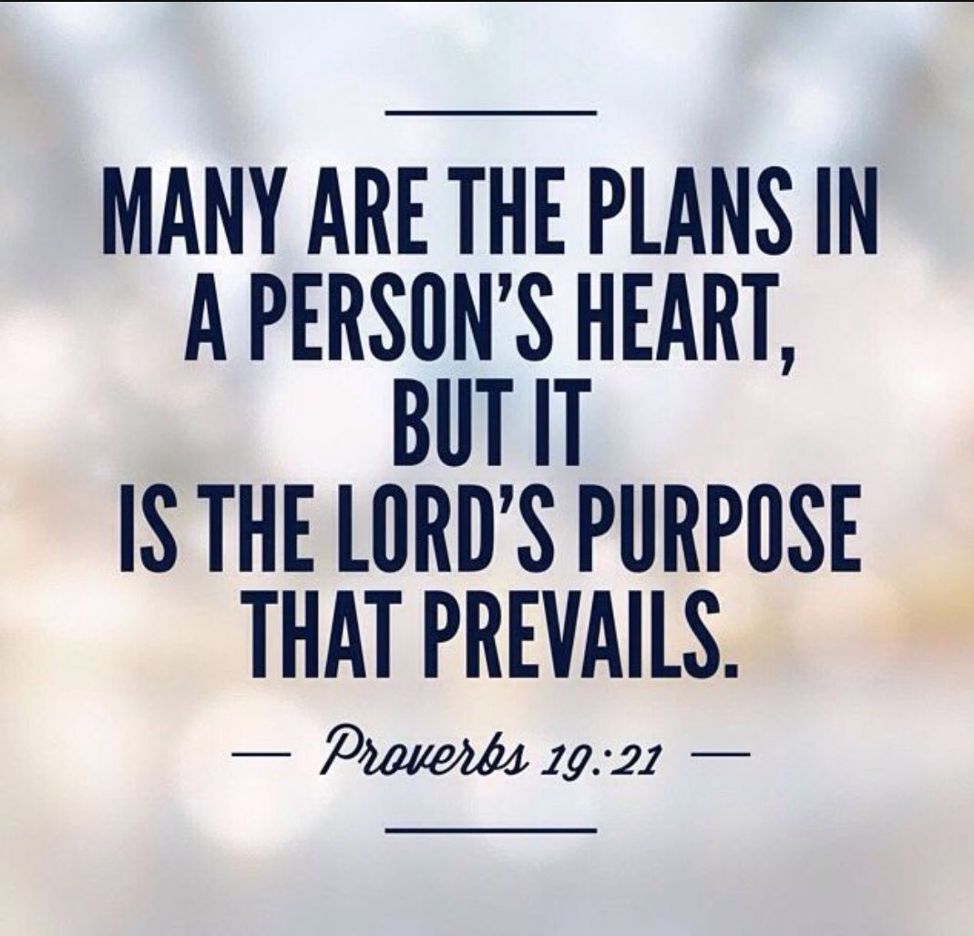 GOD'S PURPOSE WILL ALWAYS PREVAIL – Heavenly Treasures Ministry